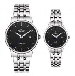 Đồng hồ cặp đôi SRWATCH SR1075.1101TE đen