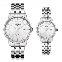 Đồng hồ cặp đôi SRWATCH SR1079.1102TE trắng