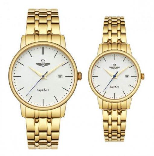 Đồng hồ cặp đôi SRWATCH SR1075.1402TE trắng