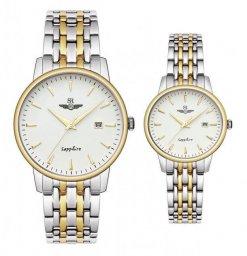 Đồng hồ cặp đôi SRWATCH SR1072.1202TE trắng