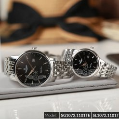 Đồng hồ cặp đôi SRWATCH SR1072.1101TE đen chính hãng