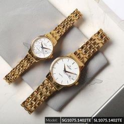 Đồng hồ cặp đôi SRWATCH SR1075.1402TE trắng cao cấp