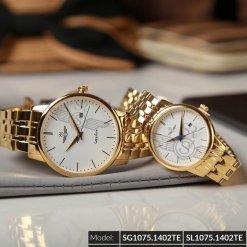 Đồng hồ cặp đôi SRWATCH SR1075.1402TE trắng chính hãng