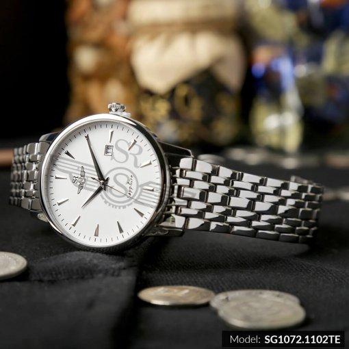 Đồng hồ nam SRWATCH SG1072.1102TE TIMEPIECE trắng cao cấp