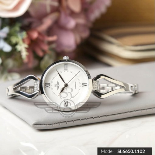 Đồng hồ nữ SRWATCH SL6650.1102 trắng chính hãng Nhật Bản