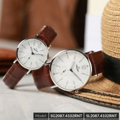 Đồng hồ đôi SRWATCH SR2087.4102RNT trắng-2
