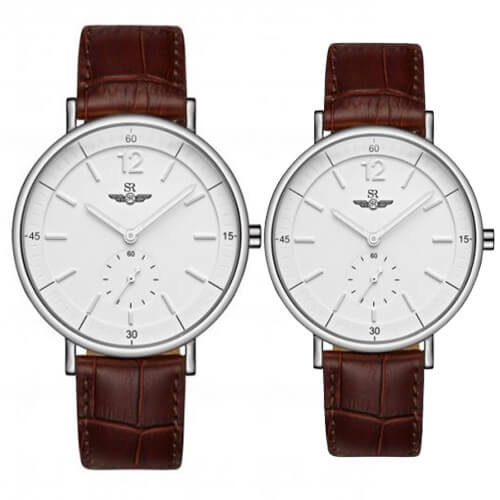 Đồng hồ đôi SRWATCH SR2087.4102RNT trắng