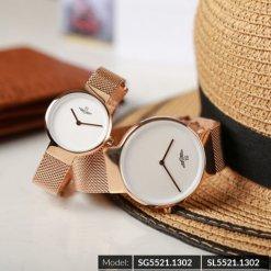 Đồng hồ cặp đôi SRWATCH SR5521.1302 trắng-2