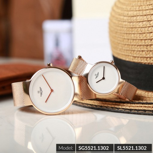 Đồng hồ cặp đôi SRWATCH SR5521.1302 trắng-3