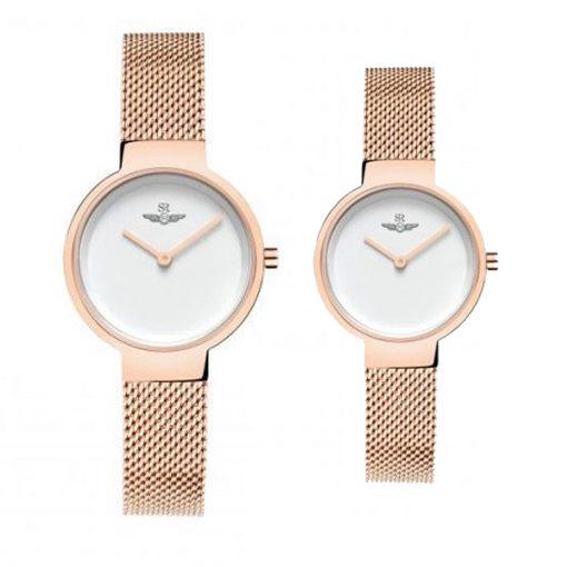 Đồng hồ cặp đôi SRWATCH SR5521.1302 trắng