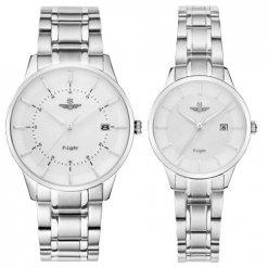 Đồng hồ cặp đôi SRWATCH SR10061.1102PL trắng
